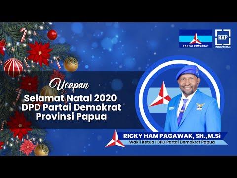 Ucapan Natal Wakil Ketua I DPD Partai Demokrat Papua RICKY HAM PAGAWAK, SH.,M.Si
