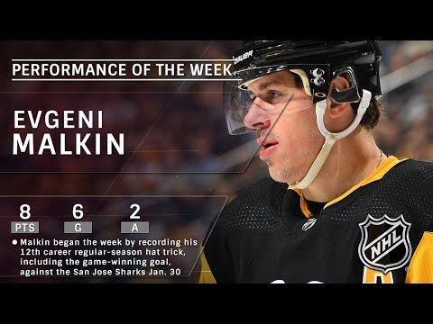Pittsburgh Penguins' Evgeni Malkin is the NHL Star of the Week: Feb. 04, 2018