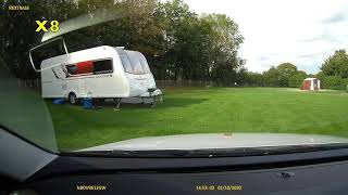 Driving to Charmouth beach from Charmouth Camping and Caravanning Club