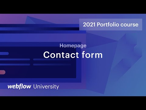 Build a resuable contact form —Build a portfolio site in Webflow, Day 4