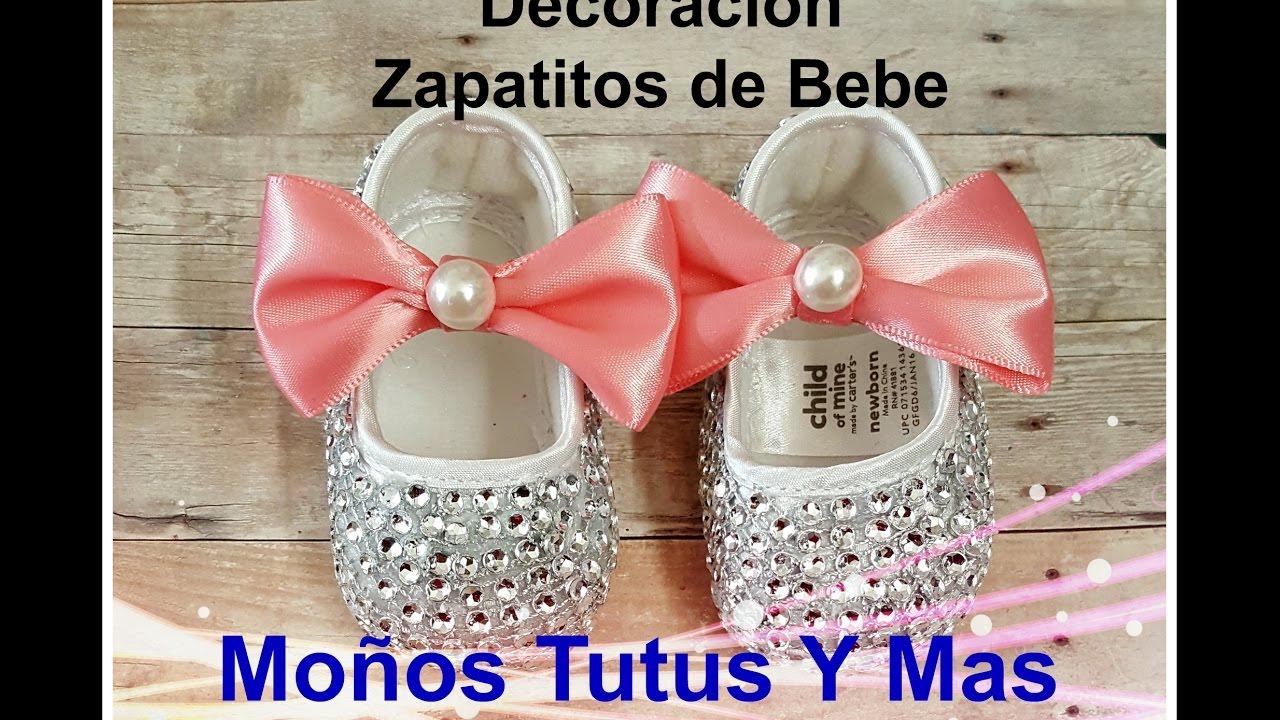 Decoracion zapatos de bebe paso a paso rhinestone baby for Tutoriales de decoracion