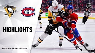 Nhl Highlights   Penguins @ Canadiens 1/4/20