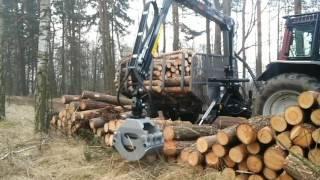 Prace leśne przyczepą palms 700 + 12 t