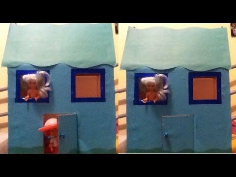 Tutorial de como hacer una casa de mu ecas con una caja de - Como aislar una casa ...