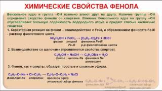 № 75. Органическая химия. Тема 15. Спирты, алканолы. Часть 18. Химические свойства фенола