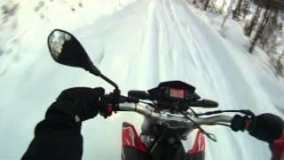 Aprilia SXV 550 with Ad Boivin Explorer snowtrack kit Part 2
