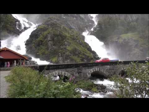 Latefossen & Langfossen waterfall ( Odda ) Norway HD