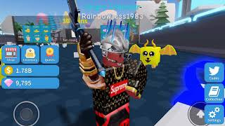 🔴roblox unboxing simulator getting the new area 🔴