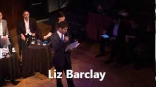 Liz Barclay Moderating the 2013 Hiscox Royal Institution Debate