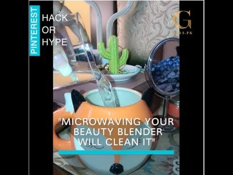 Clean your beauty blender in the microwave – Hack or Hype?