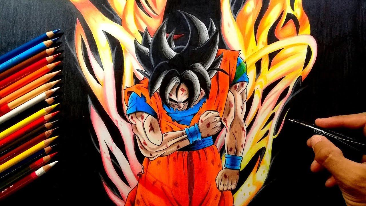 Dibujando A Goku Ultra Instinto!//Drawing Ultra Instinct