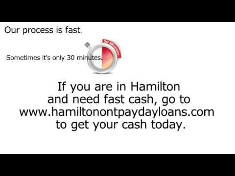 Don't Apply For A PayDay Loan In Hamilton Until You Watch This! Ontario Cash Advance Online