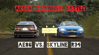 David vs. Goliath Touge Battle at Mount Akina Downhill in Assetto C...