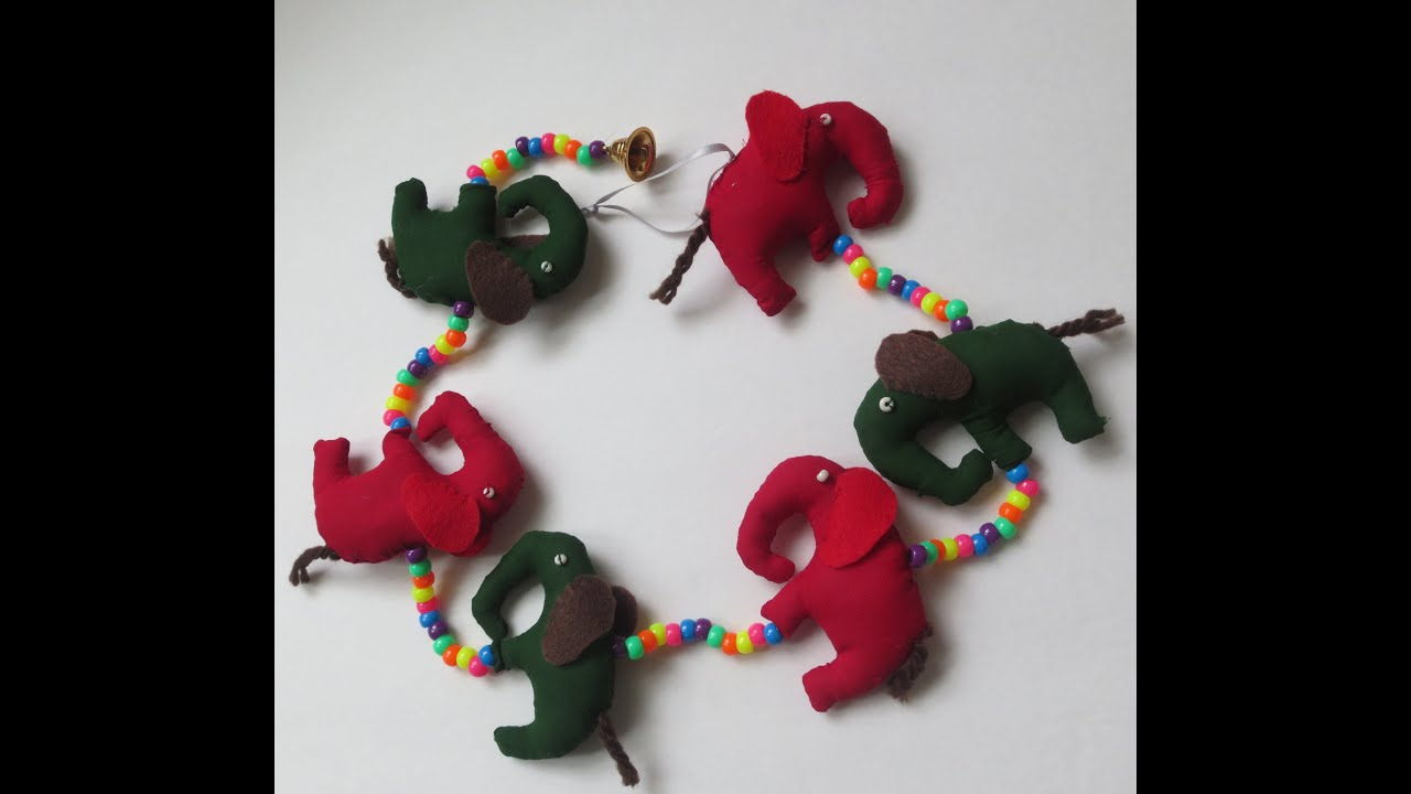 Decorative Wall Hangings Diy: Home Decor Wall Art: Elephants Wall Hanging    Youtube