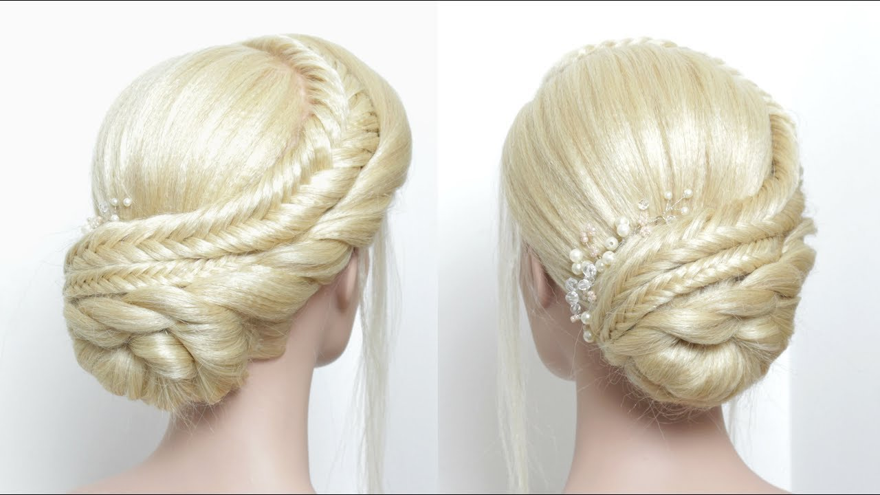Hair Tutorial: Braided Updo For Prom. Wedding Hairstyles - YouTube