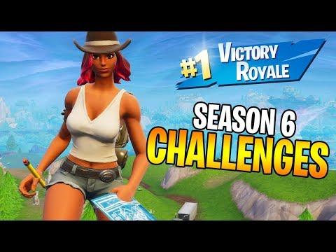 COMPLETING ALL SEASON 6 FORTNITE CHALLENGES! (Fortnite: Battle Royale Season 6)