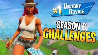 COMPLETING ALL SEASON 6 FORTNITE CHALLENGES! (Fortnite: Battle Royale Season 6)