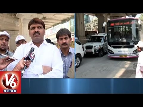 Traffic Restrictions At Jubilee Hills Check Post For Metro Work | Hyderabad | V6 News