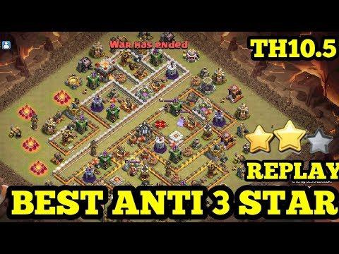 Clash Of Clans Ll War Base TH 10.5/10.75 Ll Anti 3 Star Replay Proof