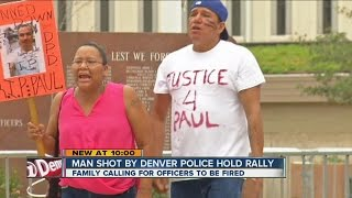 Family of man killed in police confrontation protest