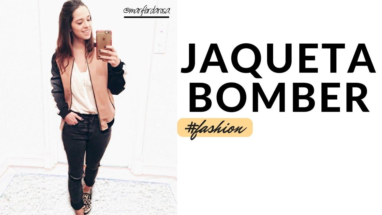 a36dec5ac TENDÊNCIA : COMO USAR JAQUETA BOMBER FEMININA - YouTube