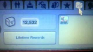 Sims 3 Cheat for Lifetime Reward Points