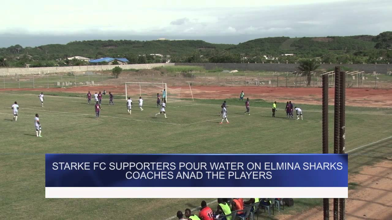 STARKE FC POURS WATER NO SHARKS