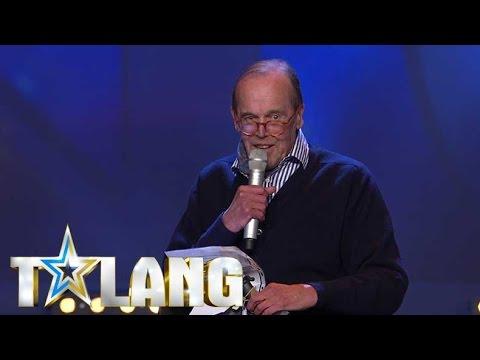 75-åriga Anders Nielsen får Bard att lämna scenen i Talang 2017 - Talang (TV4)
