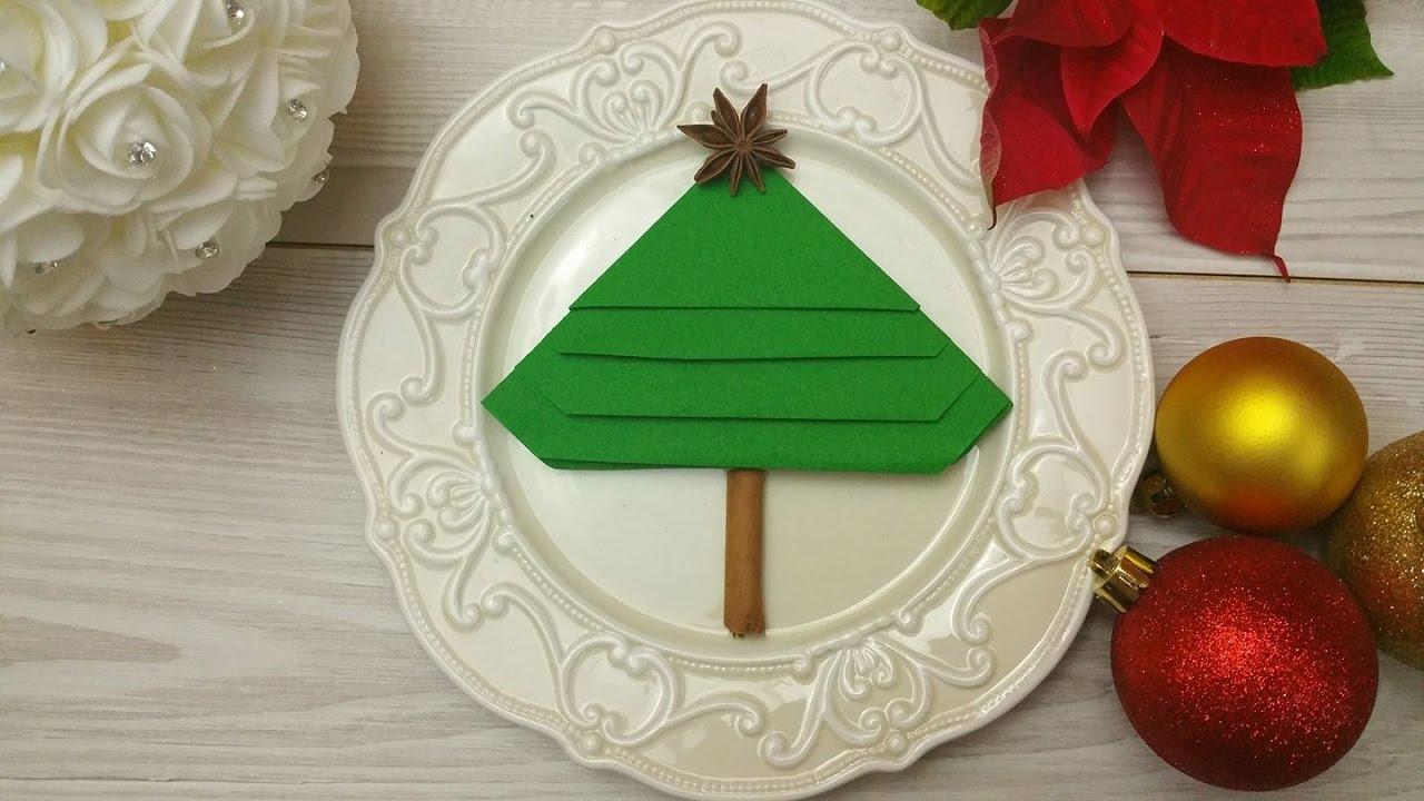Come Piegare Un Tovagliolo Albero Di Natale Fai Da Te Christmas