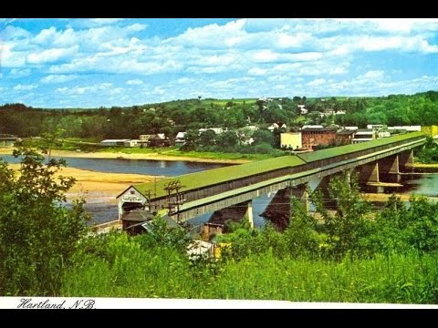 OLD POST CARDS OF Hartland ,New Brunswick
