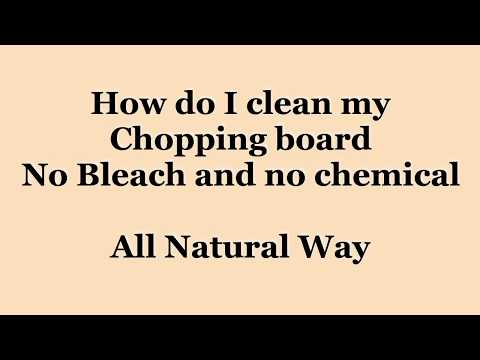 DIY | How to Clean Wood Chopping Board at home | No Chemical | All Natural
