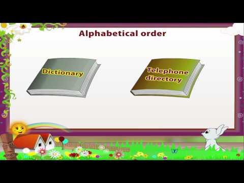 Learn Grade 3 - English Grammar - Alphabetical order