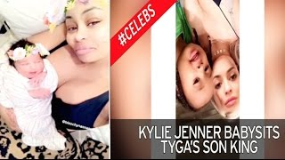 Blac Chyna gives birth to daughter Dream/ Kylie Jenner Babysits King