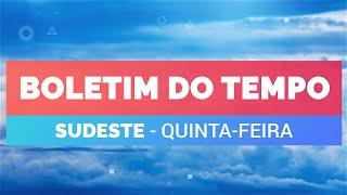 Previsão Sudeste - Tempo instável no RJ