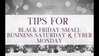 Tips For Black Friday, Small Business Saturday, & Cyber Monday