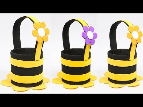 best-out-of-waste-water-bottle-craft- -plastic-bottle-basket- -diy-crafts