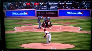 MLB12 The Show PS3 Gameplay: Cardinals vs Braves