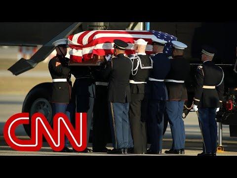 George H.W. Bush's casket arrives in Washington