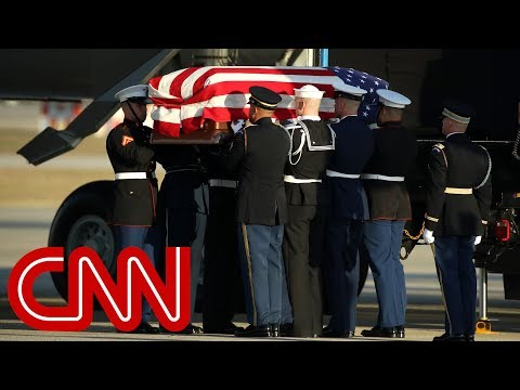 George H.W. Bush's casket arrives in Washington