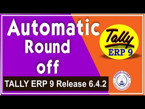 Automatic Round off Invoice Value in Tally ERP 9 with GST Part-95  Learn Tally ERP 9 with GST