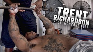 Trent Richardson dominates post-workout bench press test