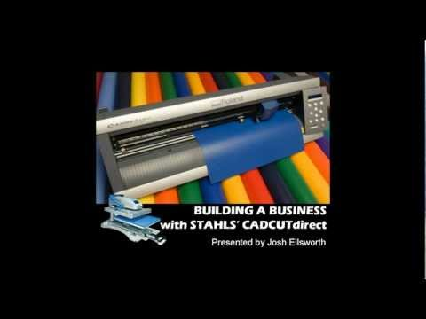 """Roland Academy Partner Webinar series - Build a Business with a GX Cutter and CAD-CUT® dIrect"""