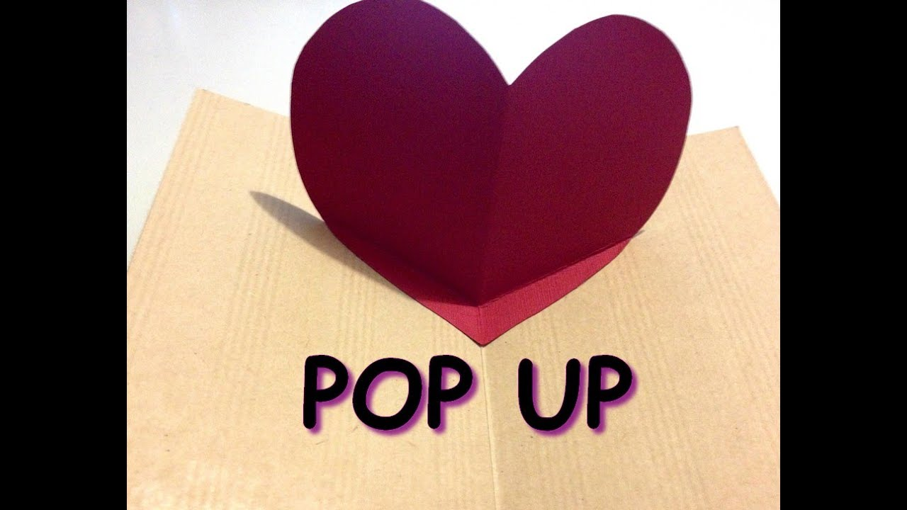 Tutoriel carterie carte pop up saint valentin youtube - Carte pop up facile ...