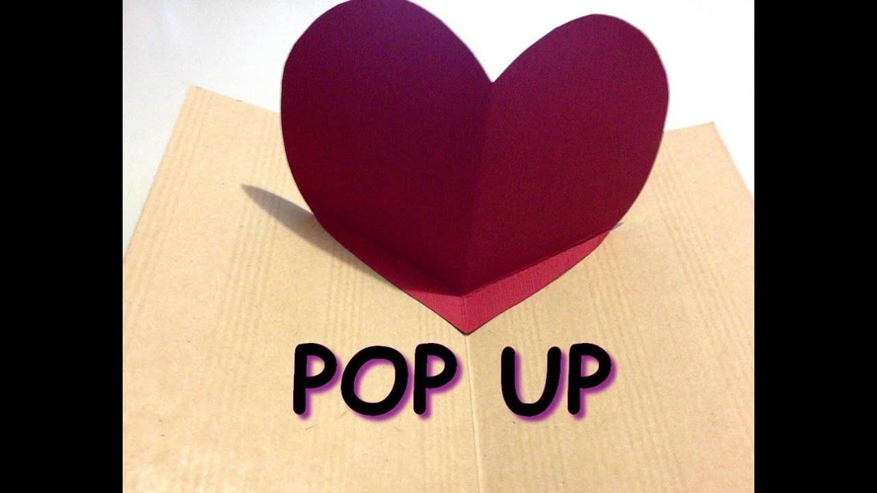 Tutoriel carterie carte pop up saint valentin youtube - Carte pop up a fabriquer ...
