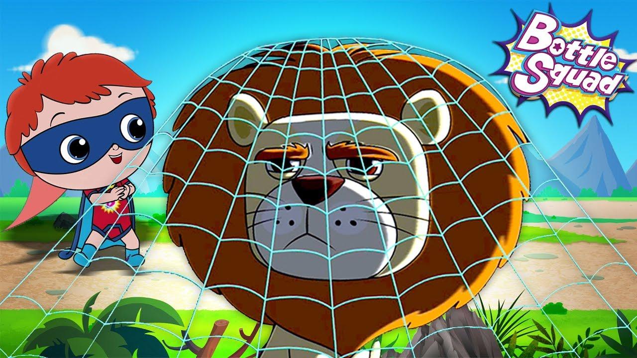 Going On A Lion Hunt | Bottle Squad Videos | Superhero Cartoons | Kids Stories | Children Cartoon