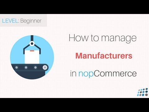 nopCommerce. Managing Manufacturers