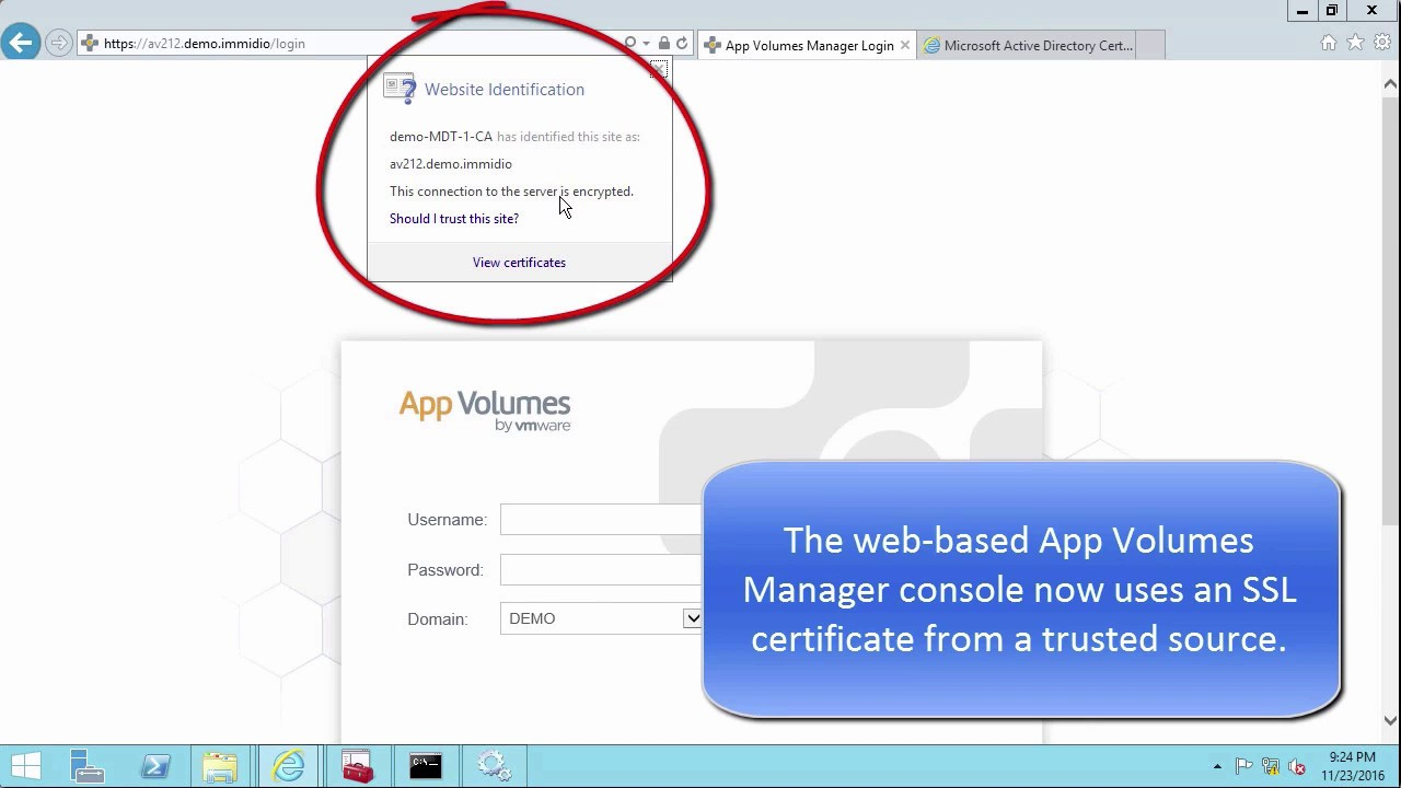 Replacing The Vmware App Volumes 212 Default Self Signed