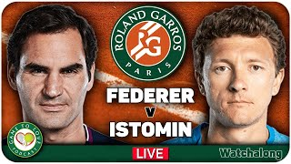 FEDERER vs ISTOMIN | French Open 2021 | LIVE GTL Tennis Watchalong