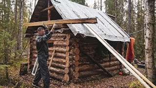 Log Cabin: build a bed, a table. Cook on the fire grouse soup.