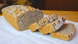 Рецепт хлеба без муки Домашний хлеб из зеленой гречки без яиц и дрожжей Всего 2 ингредиента